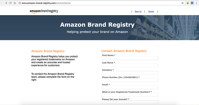 what is brand registry amazon