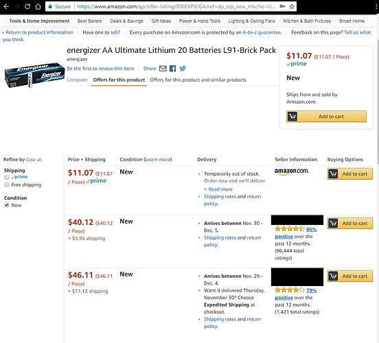Amazon Battery Scam