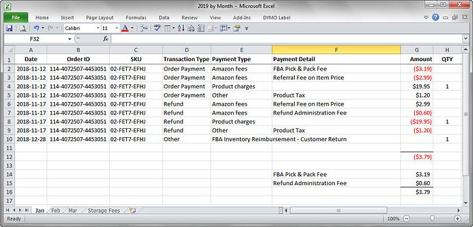 amazon fba monthly fees