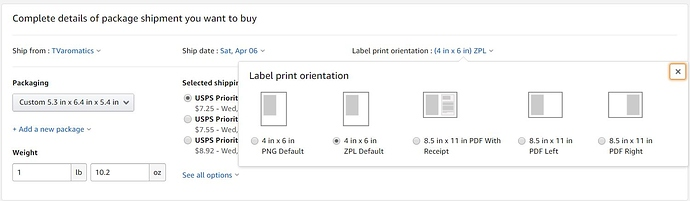 Print shipping label - Order Management, Shipping, Feedback