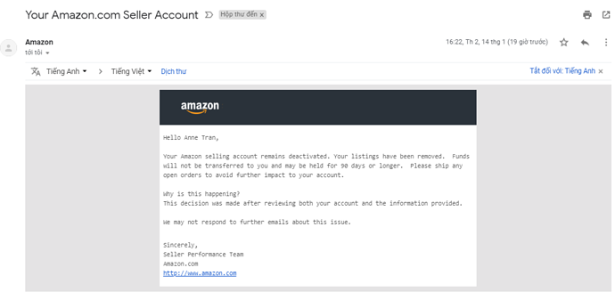 What Should I Do When My Account Is Deactivated General Selling Questions Amazon Seller Forums