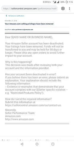 Deactivated account - Help For New Sellers - Amazon Seller