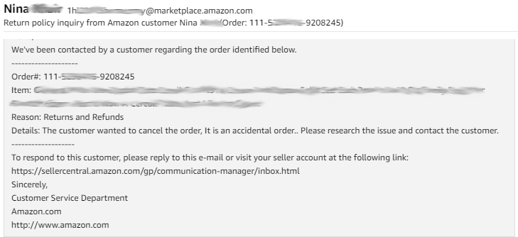 Come on Amazon     Next-day SFP order cancellation - General Selling