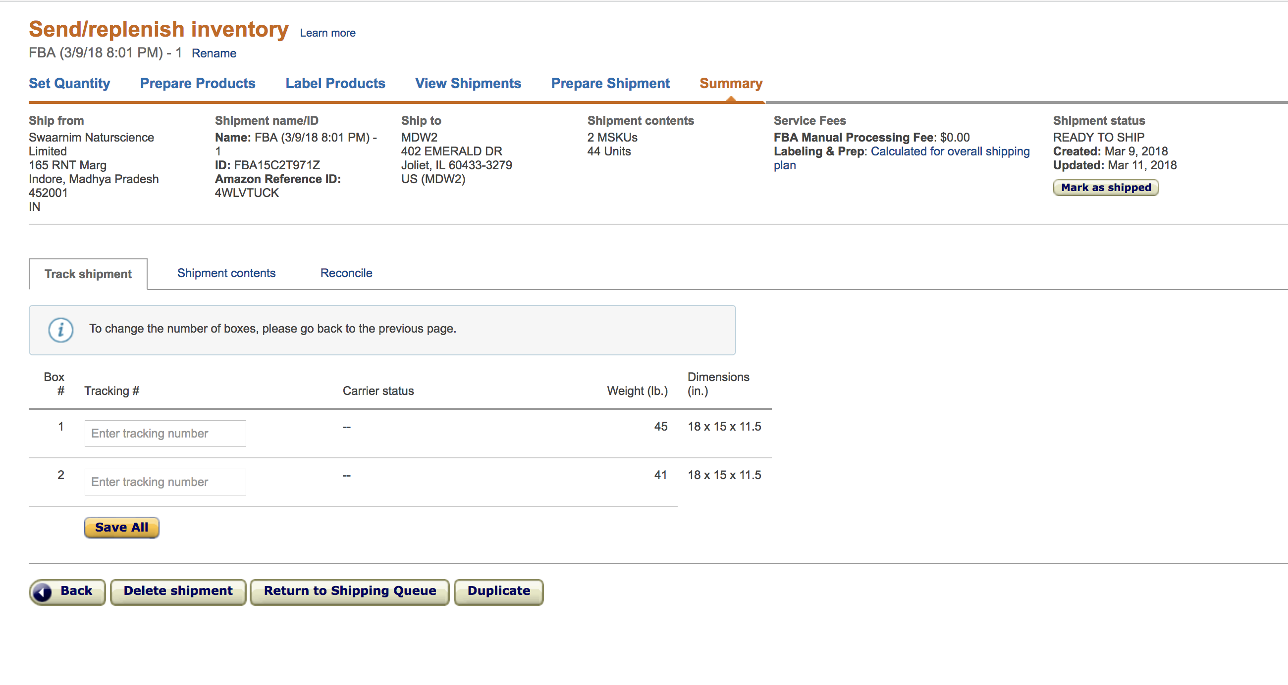 Usa India Forums Sending Seller Amazon Sellers Fba From Shipment New Help - To For