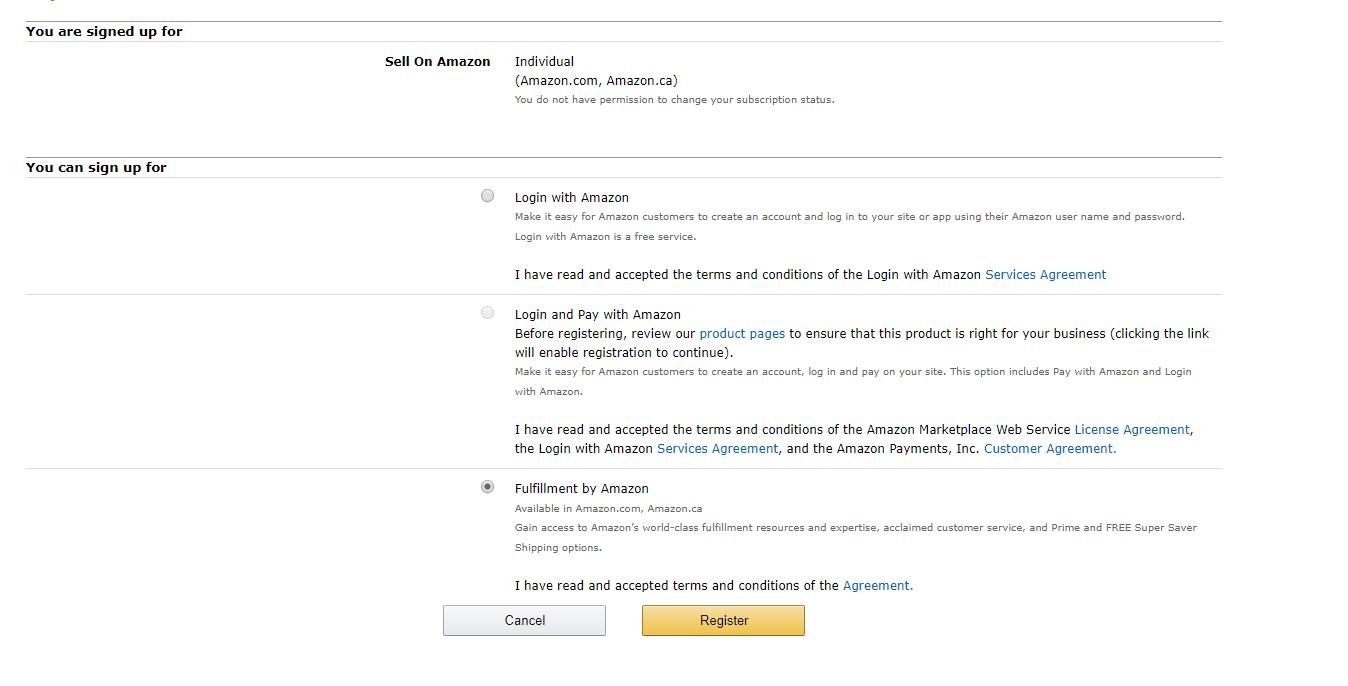 Amazon sell free