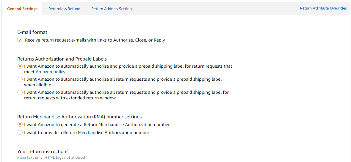 Amazon Auto Authorized Return Of A 221 Day Old Purchase Order