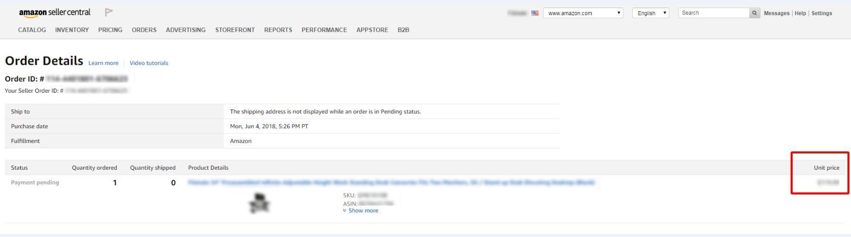 Amazon Pending Order