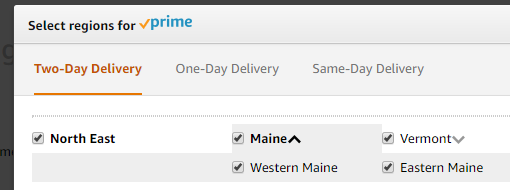 Setting Shipping Zones For Prime Based On Zipcode Order Management