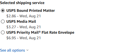 Media mail not showing in shipping USPS - Selling on Amazon