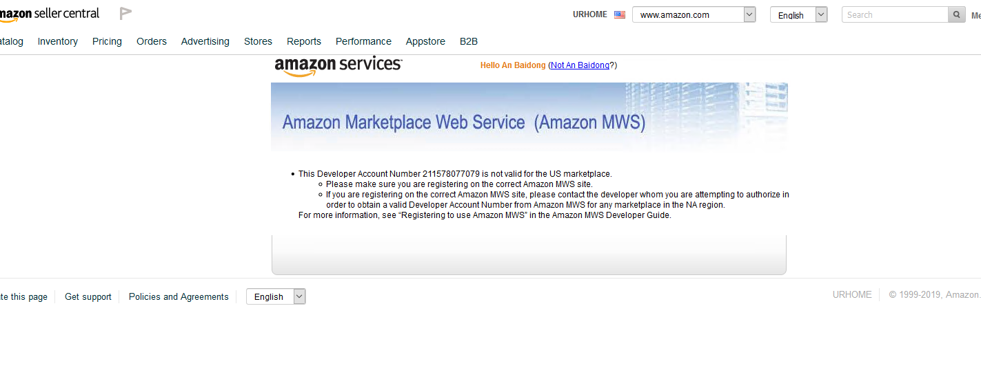 Developer Invalid amazon Mws Id Marketplace Help Please Questions Forums Amazon Seller Web Service -