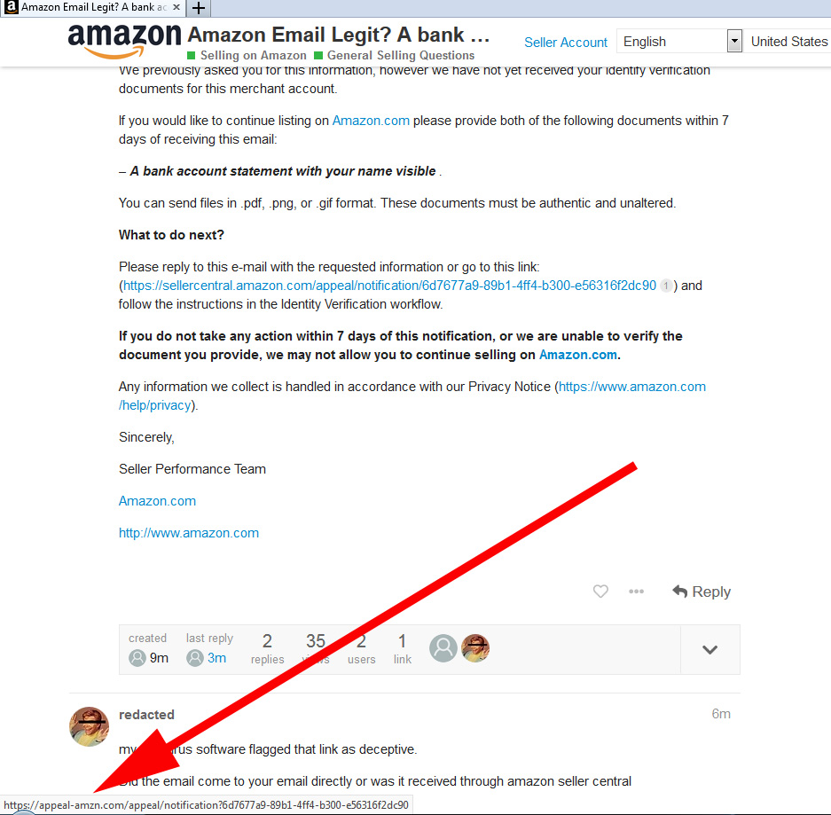 Amazon Email Legit A Bank Account Statement With Your Name Visible General Selling Questions Amazon Seller Forums